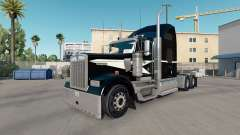 Skin Black & Mint Green on the truck Kenworth W9