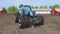 New Holland T8.320 twin wheels for Farming Simulator 2015