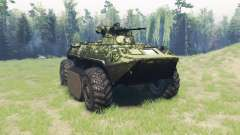 BTR 82A (GAZ-59034) hybrid for Spin Tires
