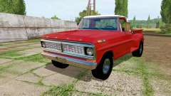 Ford F-100 Flareside 1970 for Farming Simulator 2017