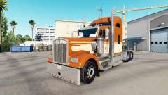 Skin of One Orange on the truck Kenworth W900