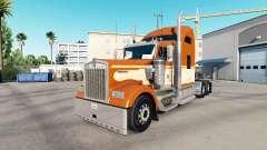 Skin of One Orange on the truck Kenworth W900 for American Truck Simulator
