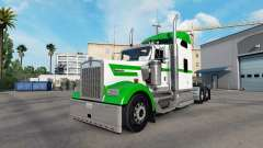 Skin White & Green on the truck Kenworth W900