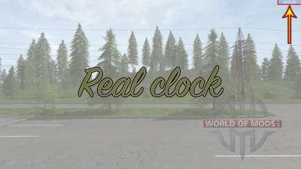 Real clock for Farming Simulator 2017