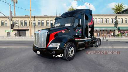 Skin M.&.A Trucking v1.1 on the tractor Peterbilt 579 for American Truck Simulator