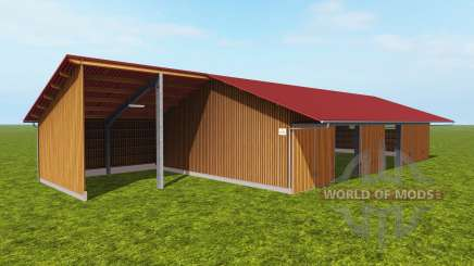 Shed for storage of wood chips for Farming Simulator 2017