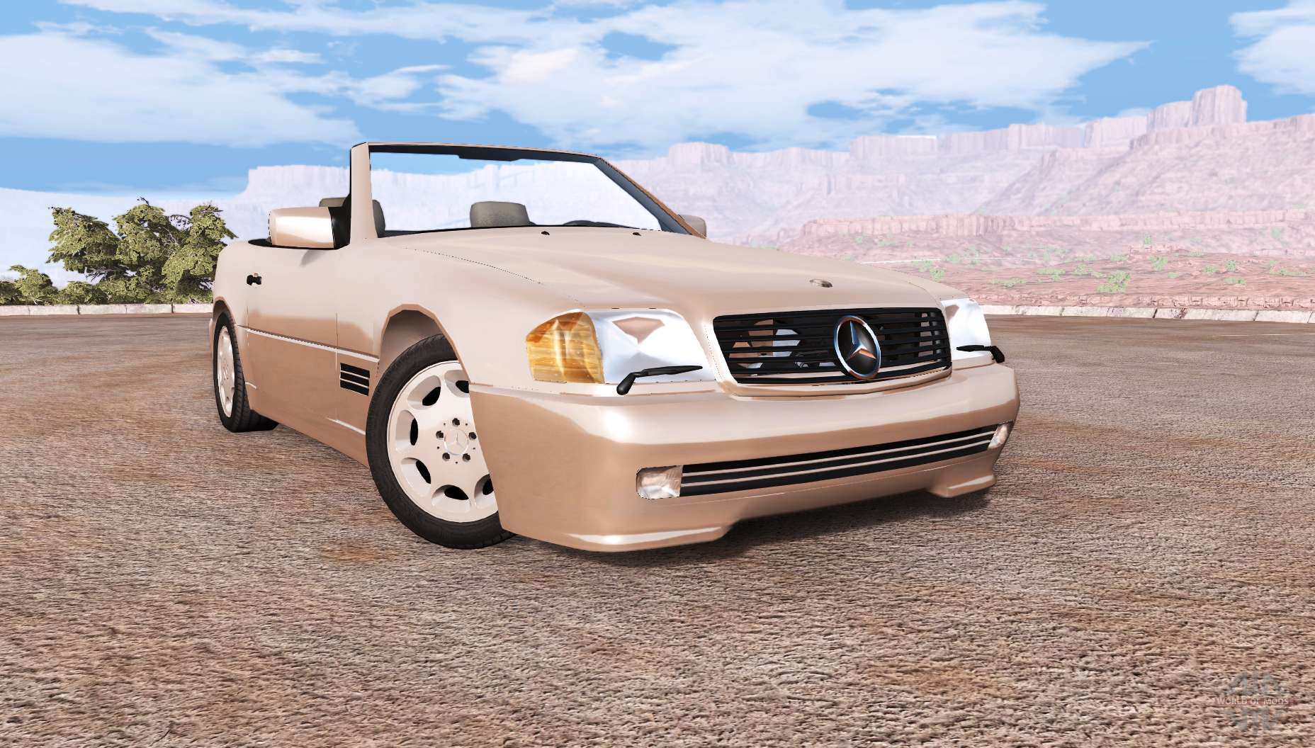 mercedes benz 500 sl r129 for beamng drive. Black Bedroom Furniture Sets. Home Design Ideas
