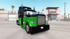 Skin Black & Green for the truck Peterbilt 389