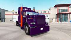 Purple Orange skin for the truck Peterbilt 389