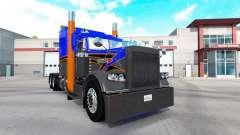 Skin Gray Orange v2.0 tractor Peterbilt 389
