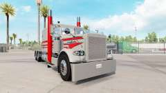 Skin Grey & Red for the truck Peterbilt 389