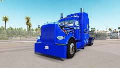 Blue Hard skin for the truck Peterbilt 389 for American Truck Simulator
