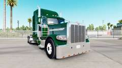 Skin DarkGreen for the truck Peterbilt 389