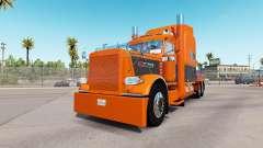Skin Orange Gray for the truck Peterbilt 389 for American Truck Simulator