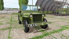 Jeep Willys MB 1942 v1.1 for Farming Simulator 2017
