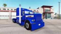 Skin Hard Blue v2.0 tractor Peterbilt 389