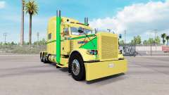 Skin Yellow Green for the truck Peterbilt 389