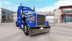 Skin Blue & Grey Metallic on the truck Peterbilt