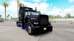 Skin Black & Purple Peterbilt 389 tractor for American Truck Simulator