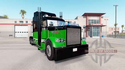 Skin Black & Green for the truck Peterbilt 389 for American Truck Simulator