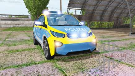 BMW i3 (I01) autobahnplizei for Farming Simulator 2017