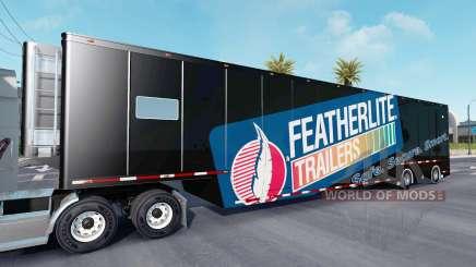 Featherlite semitrailer v1.4 for American Truck Simulator