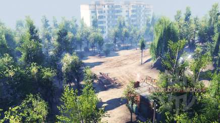 The city in the forest for Spin Tires