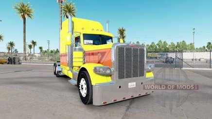 Skin Yellow Burst on the truck Peterbilt 389 for American Truck Simulator