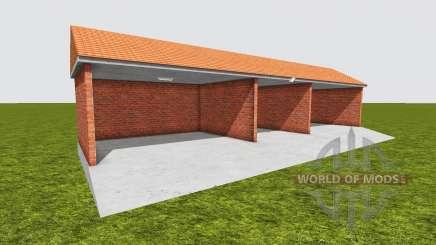 Garage courtyard for Farming Simulator 2017