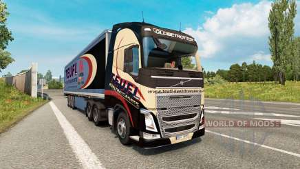 Painted truck traffic pack v2.8 for Euro Truck Simulator 2