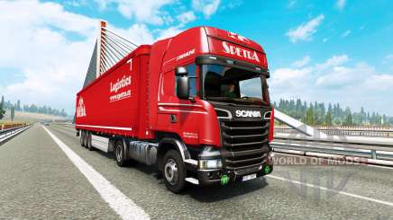 Painted truck traffic pack v2.9 for Euro Truck Simulator 2