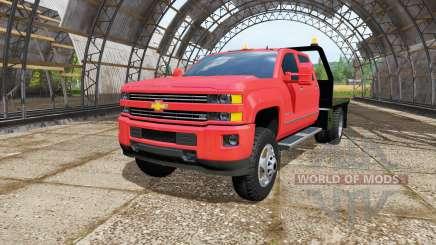 Chevrolet Silverado 3500 HD Crew Cab flatbed for Farming Simulator 2017