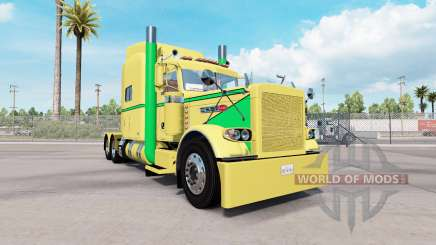 Skin Yellow Green for the truck Peterbilt 389 for American Truck Simulator