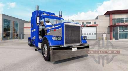 Skin Blue & Grey Metallic on the truck Peterbilt 389 for American Truck Simulator
