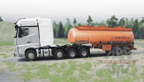 Mercedes-Benz Actros (MP4) 8x8 for Spin Tires