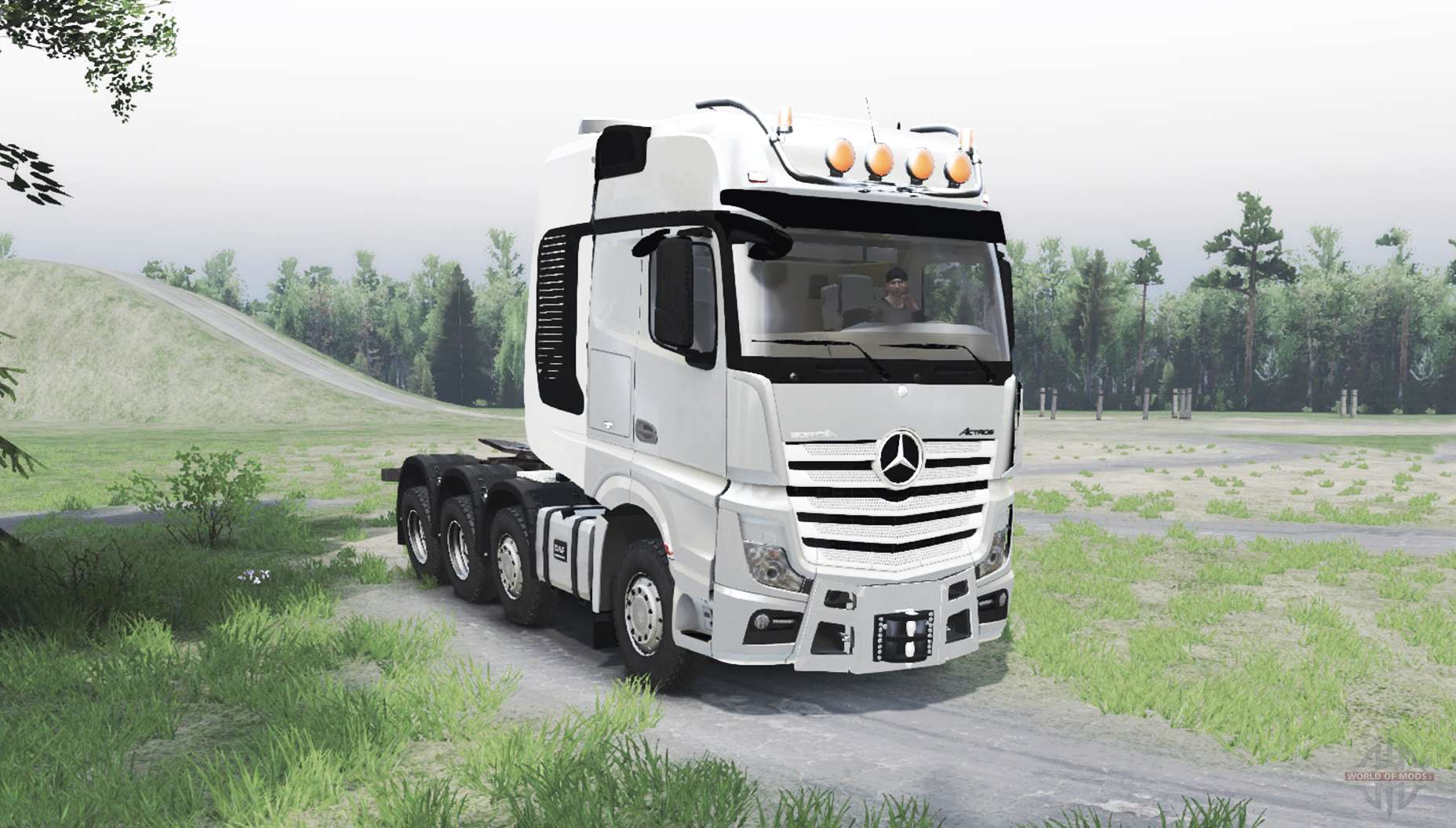 mercedes benz actros mp4 8x8 for spin tires. Black Bedroom Furniture Sets. Home Design Ideas