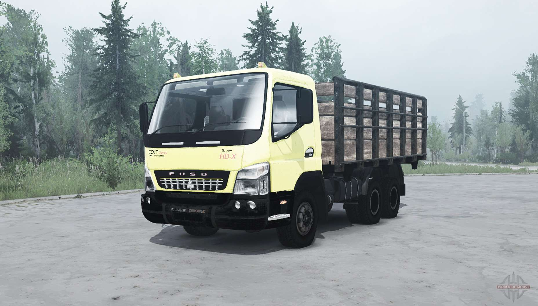 Mitsubishi Fuso Canter (FE7) for MudRunner