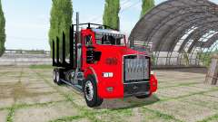 Kenworth T800 log truck for Farming Simulator 2017