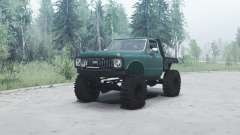 Chevrolet K10 1972 green for MudRunner