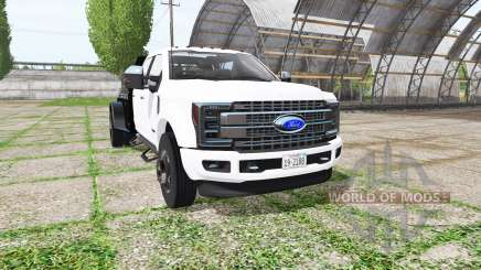 Ford F-450 Super Duty flatbed for Farming Simulator 2017