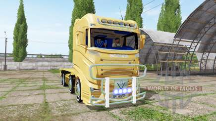 Scania R1000 container truck for Farming Simulator 2017