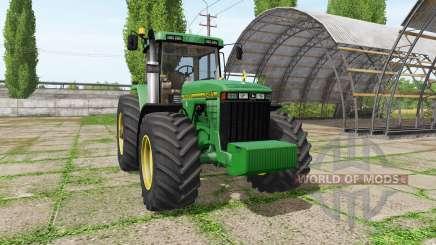 John Deere 8400 v3.3.6.9 for Farming Simulator 2017