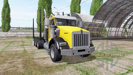 Kenworth T800B logging truck for Farming Simulator 2017