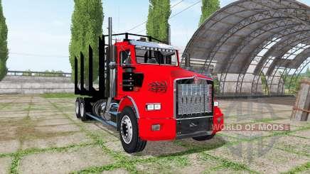 Kenworth T800 log truck for Farming Simulator 2017