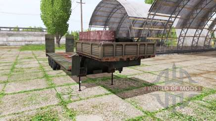 Low bed semi-trailer for Farming Simulator 2017