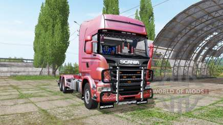 Scania R730 hooklift v1.0.3 for Farming Simulator 2017