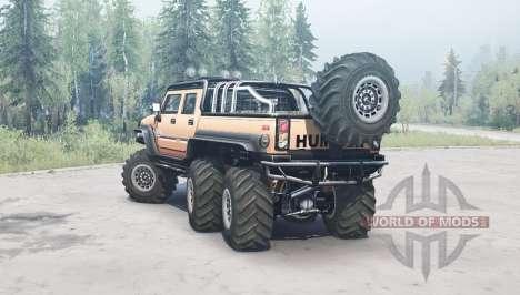 Hummer H2 SUT 6x6 for Spintires MudRunner