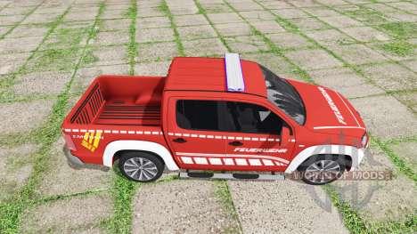 Volkswagen Amarok Double Cab feuerwehr for Farming Simulator 2017