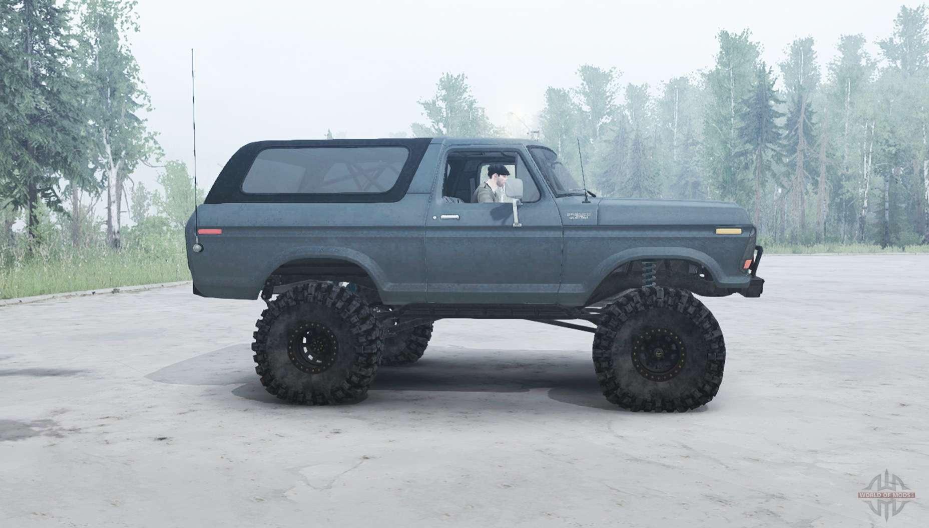 Ford Bronco Tires >> Ford Bronco Custom (U150) 1978 for MudRunner