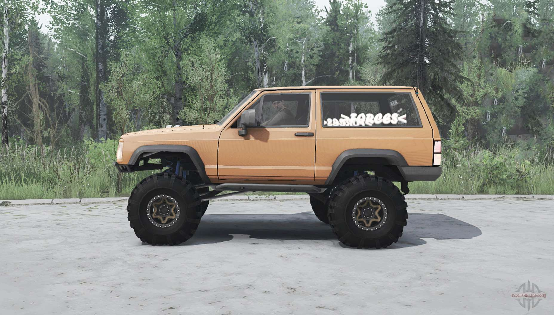 Jeep Cherokee Xj 1990 For Mudrunner
